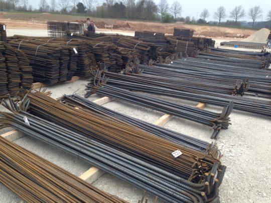 Baustahlverlegung Industriebau Industriebodenplatten