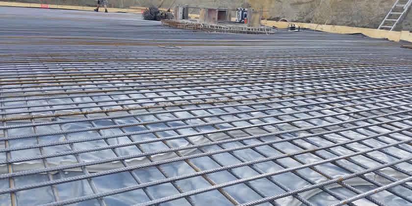 Bodenplatten-baustahlverlegung