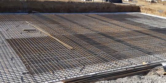 Industriebodenplatte-eisenflechter